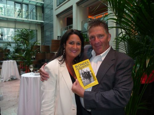 Mindy our Book Midwife and Tim Kidson
